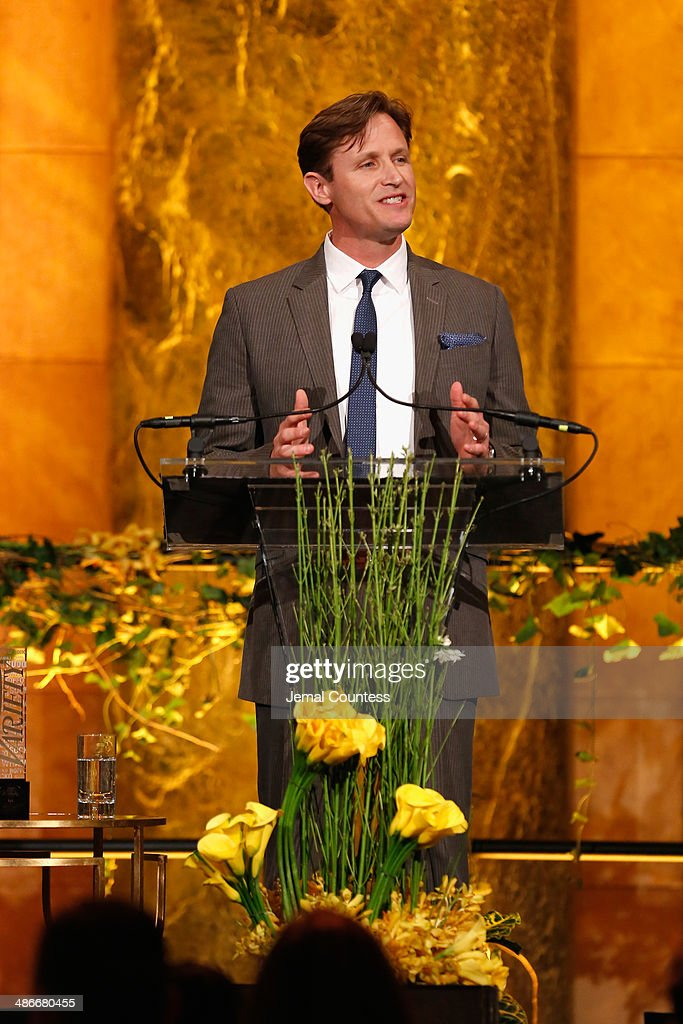 President of The Mission Continues Spencer Kympton speaks onstage at Variety Power Of Women New York presented by FYI at Cipriani 42nd Street on...