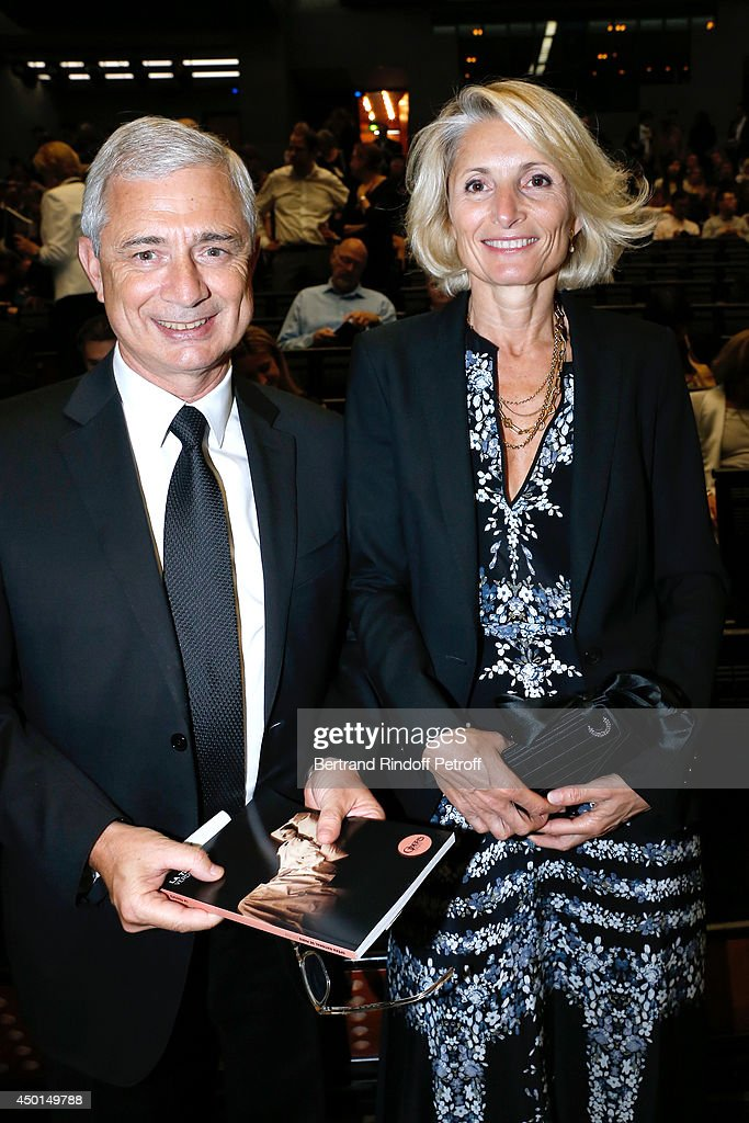 President of the National Assembly <a gi-track='captionPersonalityLinkClicked' href=/galleries/search?phrase=Claude+Bartolone&family=editorial&specificpeople=551950 ng-click='$event.stopPropagation()'>Claude Bartolone</a> and his wife Veronique attend the AROP Charity Gala with play of 'La Traviata'. Held at Opera Bastille on June 5, 2014 in Paris, France.