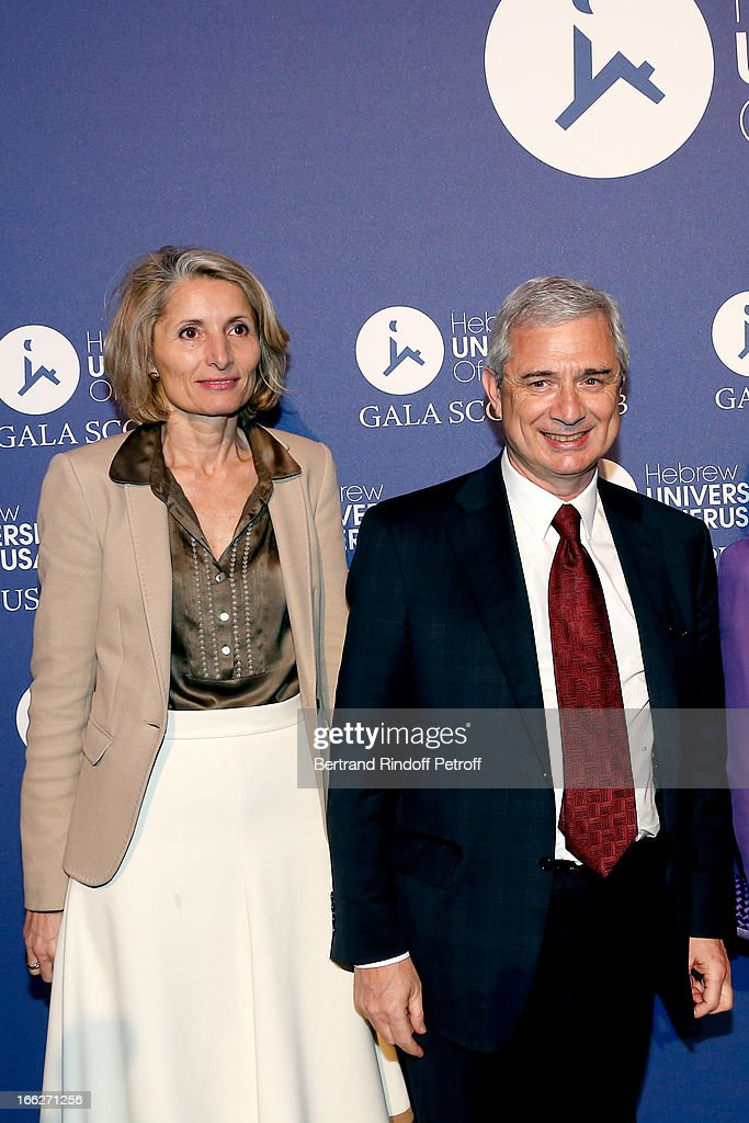 President of the National Assembly <a gi-track='captionPersonalityLinkClicked' href=/galleries/search?phrase=Claude+Bartolone&family=editorial&specificpeople=551950 ng-click='$event.stopPropagation()'>Claude Bartolone</a> and wife Veronique attend 'Scopus Awards 2013', Taste of Knowledge (Les Saveurs du Savoir) at Espace Cambon Capucines on April 10, 2013 in Paris, France.