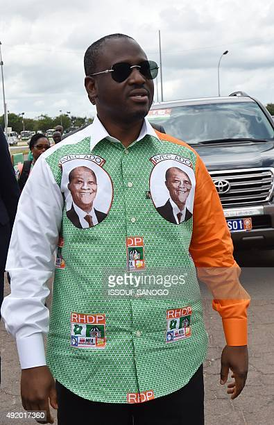 President of the National Assembly of Cote d'Ivoire Guillaume Soro arrives for a meeting with Ivory Coast's president and candidate for the upcoming...