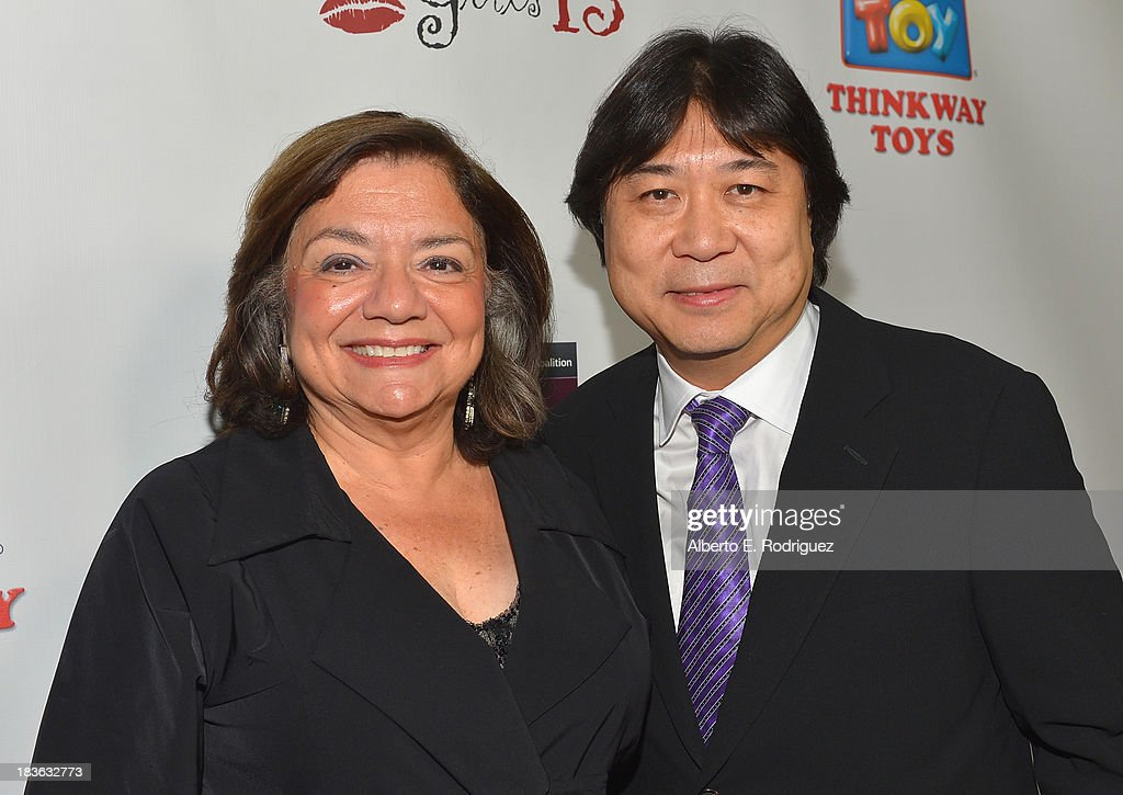 President of the National Breast Cancer Coalition Fran Visco and President & CEO of Thinkway Toys Albert Chan attend The National Breast Cancer Coalition Fund presents The 13th Annual Les Girls at the Avalon on October 7, 2013 in Hollywood, California.