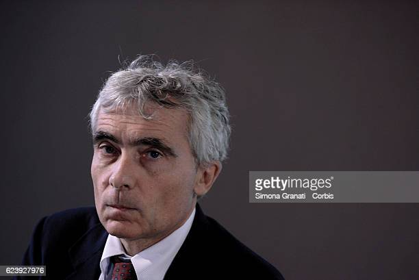 President of the National Social Security Institute Tito Boeri during the press conference on layoffs in Italy on November 16 2016 in Rome Italy