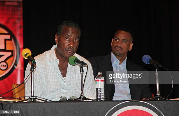 President of the New York City Correction Officers' Benevolent Association Norman Seabrook and former NBA player Jayson Williams speak at the Hot 97...