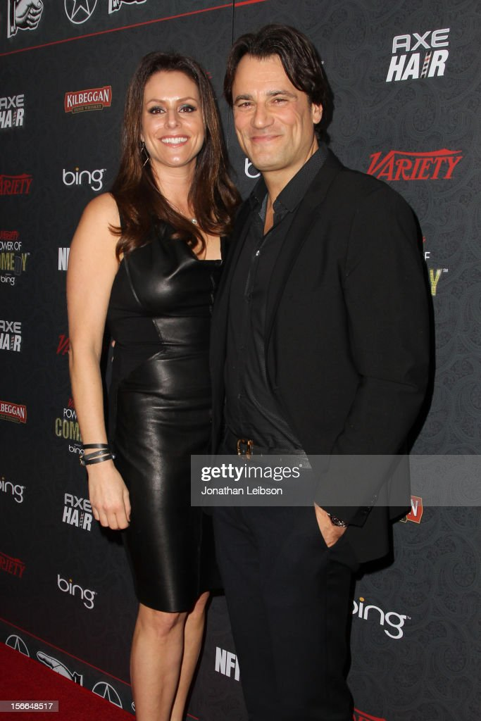 President of the Noreen Fraser Foundation Michelle McBride and CEO of Mr. Skin Jim McBride arrive at Variety's 3rd annual Power of Comedy event presented by Bing benefiting the Noreen Fraser Foundation held at Avalon on November 17, 2012 in Hollywood, California.