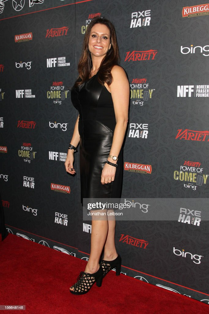President of the Noreen Fraser Foundation Michelle McBride arrives at Variety's 3rd annual Power of Comedy event presented by Bing benefiting the Noreen Fraser Foundation held at Avalon on November 17, 2012 in Hollywood, California.