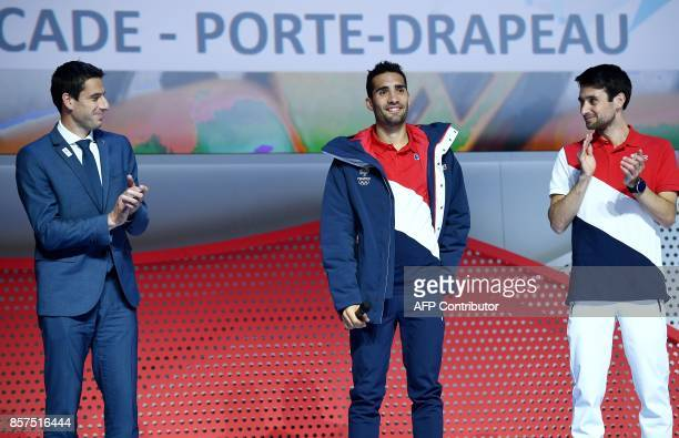 President of the Paris bid for the 2024 Olympics Tony Estanguet and by Jason LamyChappuis Nordic combined Olympic champion and flag bearer of the...