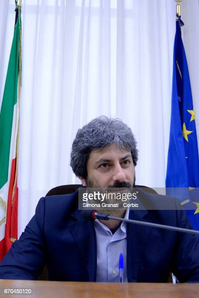 President of the Parliamentary Committee of audiovisual services supervision Roberto Fico during a Parliamentary Supervisory Board hearing of the...