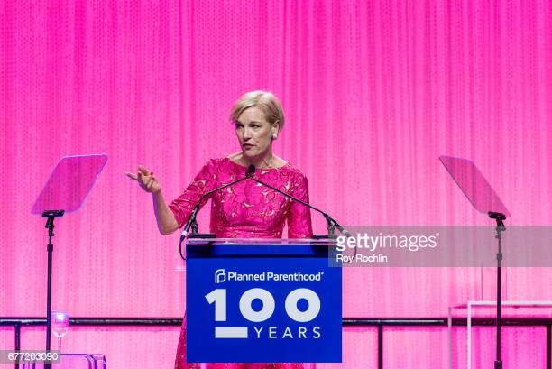 President of the Planned Parenthood Federation of America Cecile Richards speaks during the Planned Parenthood 100th Anniversary Gala at Pier 36 on...