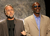 President of the recording academy Neil Portnow and Thelonious Monk Jr on stage at The Thelonious Monk Institute of Jazz and The Recording Academy...