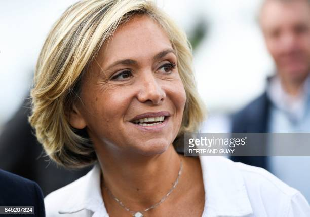 President of the region IledeFrance regional council Valerie Pecresse attend the launching of her new political movement 'Libres ' on September 10...