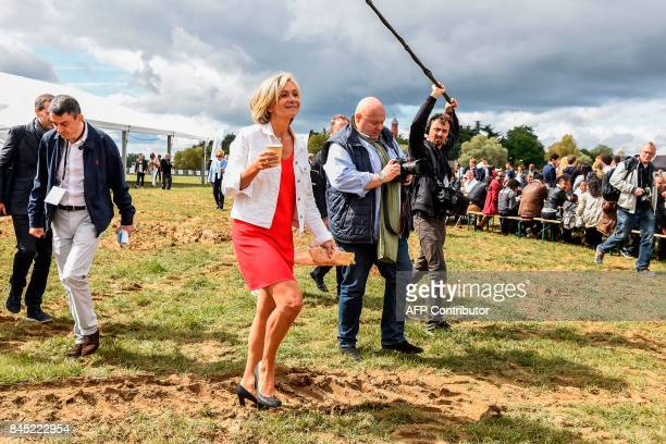 President of the region IledeFrance regional council Valerie Pecresse attends an event for the launching of her new political movement 'Libres ' on...