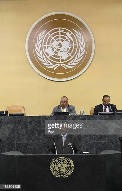 President of the Republic of Chad Idriss Deby Itno addresses the 68th session of the General Assembly at United Nations headquarters on September 25...