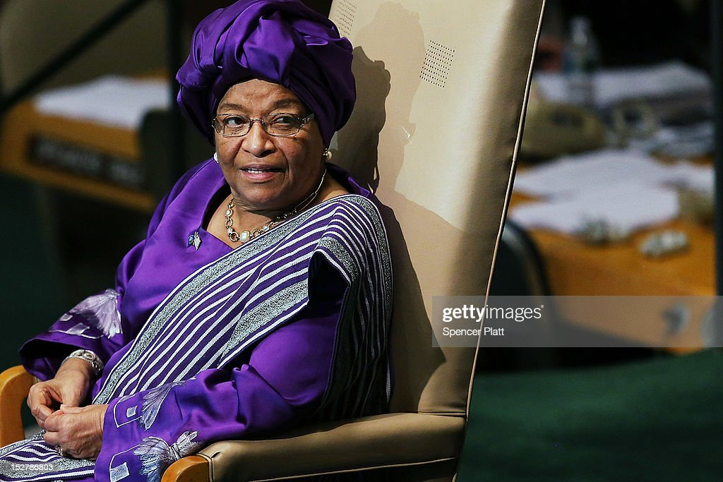 President of the Republic of Liberia Ellen Johnson-Sirleaf sits after her address to world leaders at the United Nations General Assembly on September 26, 2012 in New York City. Over 120 prime ministers, presidents and monarchs are gathering this week at the U.N. for the annual meeting. This year's focus among leaders will be the ongoing fighting in Syria, which is beginning to threaten regional stability.
