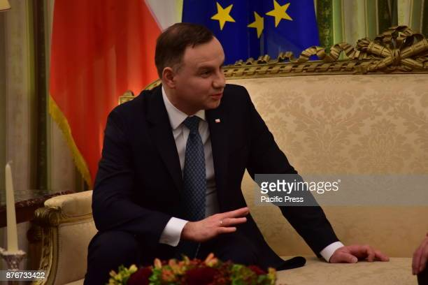 MANSION ATHENS ATTIKI GREECE President of the Republic of Poland Andrzej Duda during his meeting with President of Hellenic Republic Prokopis...