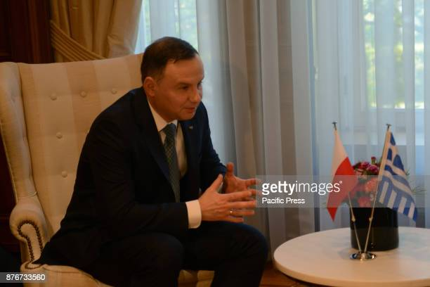 MANSION ATHENS ATTIKI GREECE President of the Republic of Poland Andrzej Duda during the meeting with Greek Prime Minister Alexis Tsipras