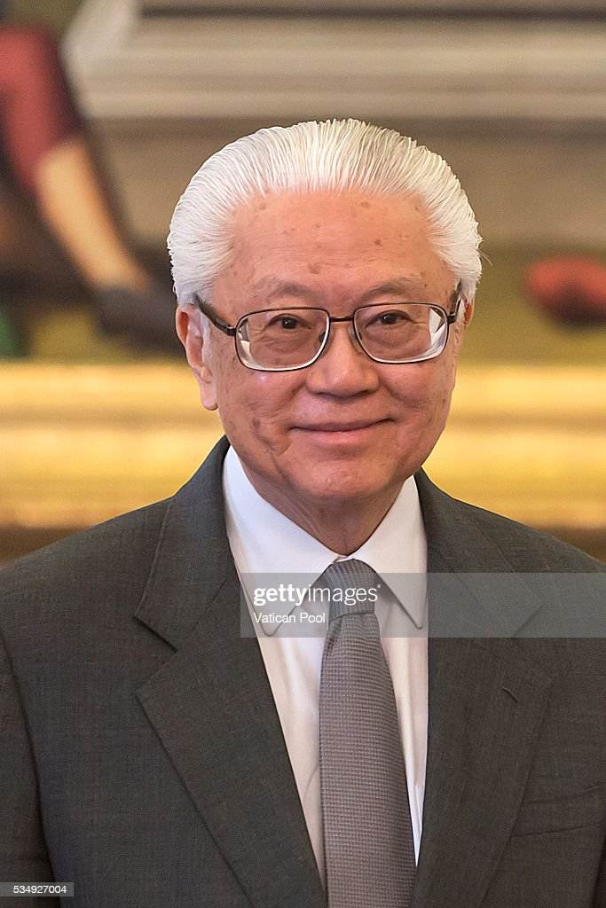 President of the Republic of Singapore <a gi-track='captionPersonalityLinkClicked' href=/galleries/search?phrase=Tony+Tan+Keng+Yam&family=editorial&specificpeople=6629941 ng-click='$event.stopPropagation()'>Tony Tan Keng Yam</a> attends an audience with Pope Francis at the Apostolic Palace on May 28, 2016 in Vatican City, Vatican. Two leaders spoke about certain international issues and the regional political situation, with particular reference to the importance of interreligious and intercultural dialogue for the promotion of human rights, stability, justice and peace in Southeast Asia.