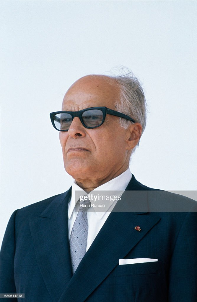 President of the Republic of Tunisia <a gi-track='captionPersonalityLinkClicked' href=/galleries/search?phrase=Habib+Bourguiba&family=editorial&specificpeople=213571 ng-click='$event.stopPropagation()'>Habib Bourguiba</a>
