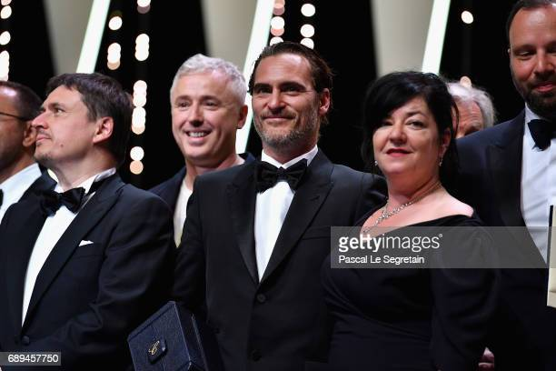 President of the Short Films and Cinefondation jury Cristian Mungiu Robin Campillo winner of the Grand Prix for the movie '120 Beats Per Minute'...