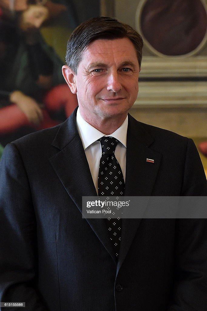 Pope Francis Meets President Of Slovenia Borut Pahor