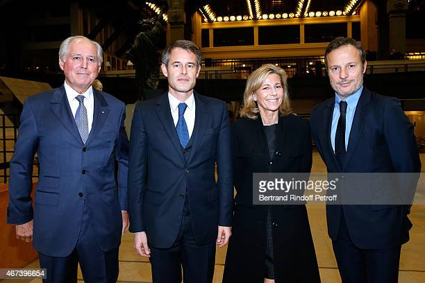 President of the 'Societe des Amis du Musee D'Orsay' JeanLouis Milin Philippe Mugnier Claire Chazal and Olivier Bialobos attend the 'Societe des Amis...