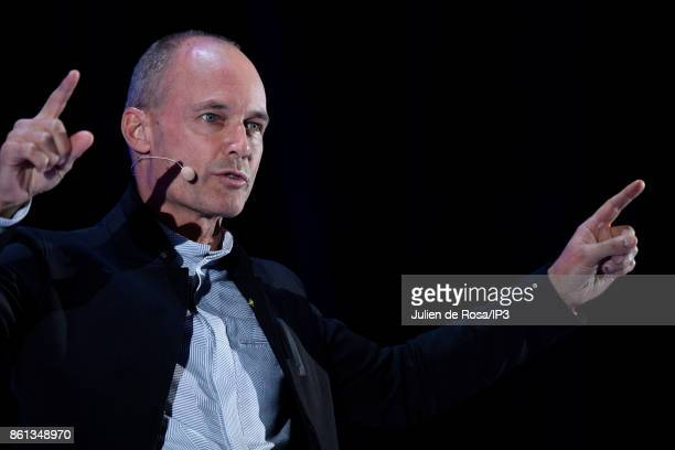 President of the Solar Impulse Foundation Bertrand Piccard attends the third edition of Bpifrance INNO generation at AccorHotels Arena on October 12...