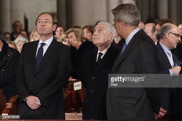 President of the Spanish Senate Pio Garcia Escudero President of The Supreme Court Carlos Divar and Speaker of the Lower House Jesus Posada attend...