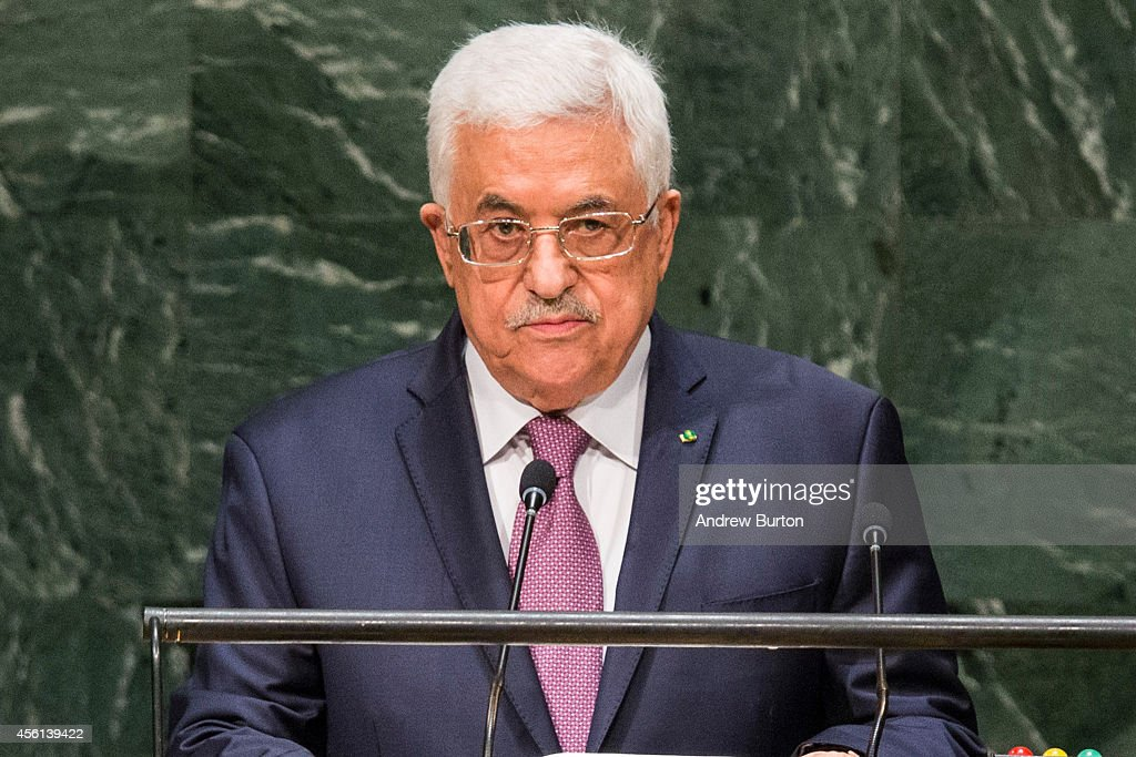 President of the State of Palestine <a gi-track='captionPersonalityLinkClicked' href=/galleries/search?phrase=Mahmoud+Abbas&family=editorial&specificpeople=176534 ng-click='$event.stopPropagation()'>Mahmoud Abbas</a> speaks at the 69th United Nations General Assembly on September 26, 2014 in New York City. The annual event brings political leaders from around the globe together to report on issues meet and look for solutions.