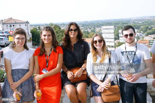 President of the Student Jury actress Cristiana Reali and Students attend the 10th Angouleme FrenchSpeaking Film Festival Day Three on August 24 2017...
