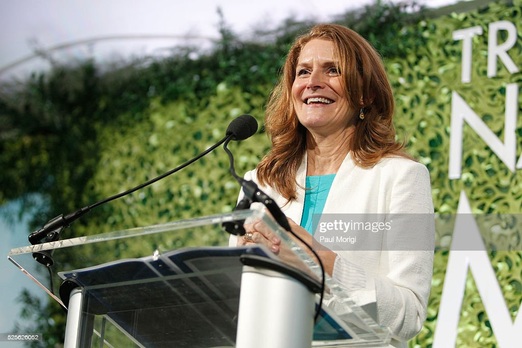 President of the Trust for the National Mall Catherine Townsend speaks at the Trust for the National Mall's Ninth Annual Benefit Luncheon in West Potomac Park on April 28, 2016 in Washington, DC.