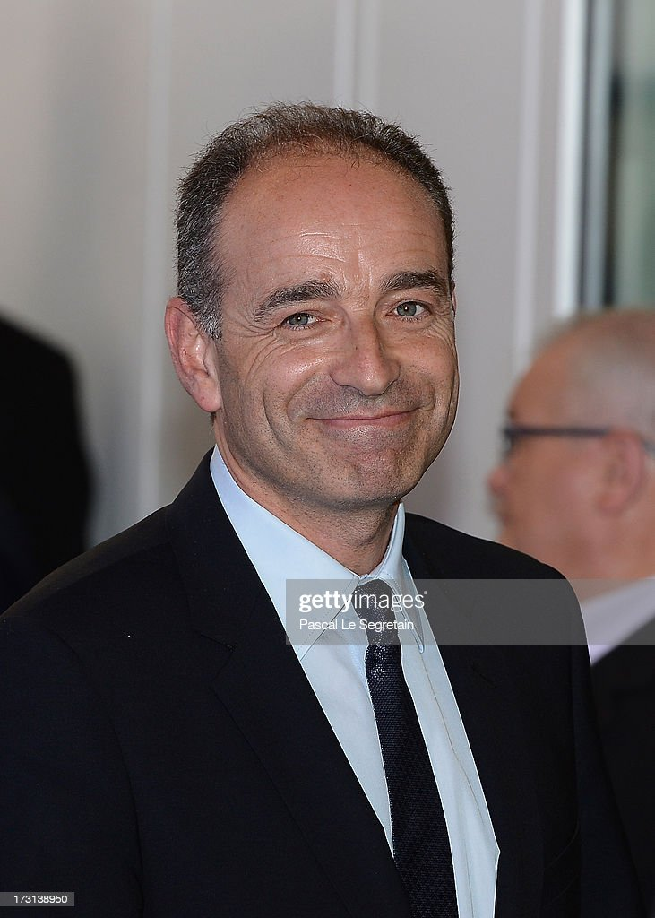 President of the UMP Jean-Francois Cope arrives at the UMP headquarters to attend an extraordinary meeting of UMP right-wing opposition party July 8, 2013 in Paris, France. Former French President Nicolas Sarkozy made his first political appearance since failing to secure a second term in office in May 2012 as he attended the party meeting for the troubled UMP party.