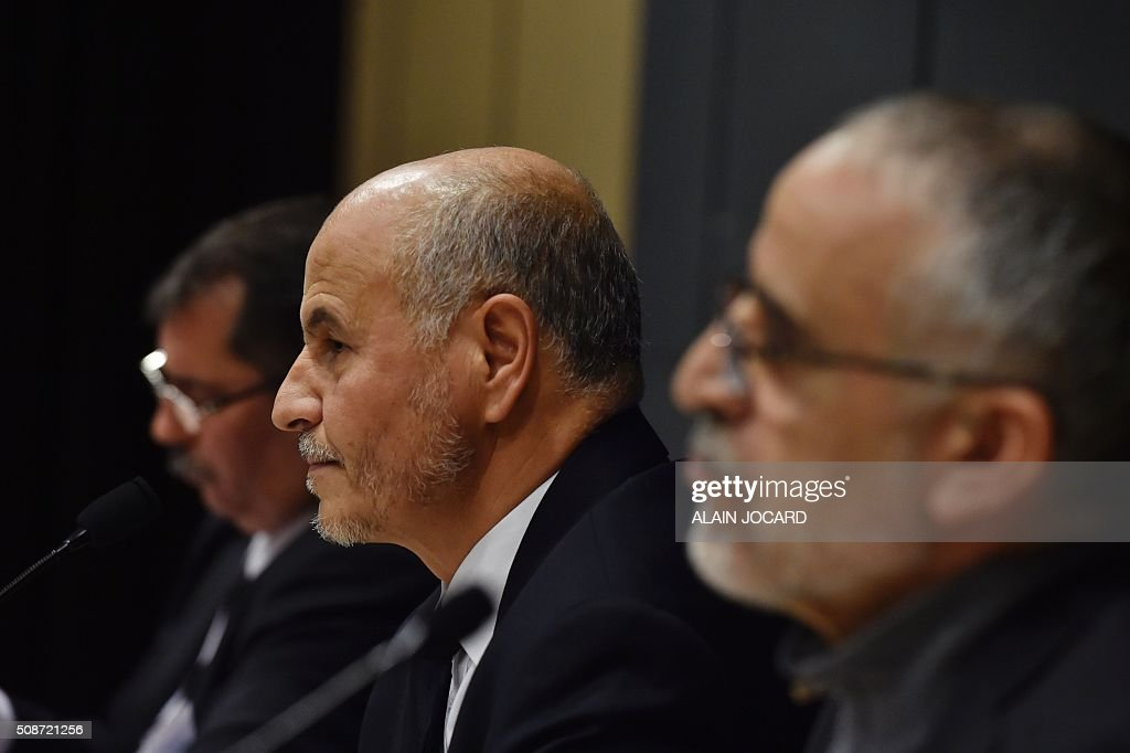 President of the Union of Islamic Organisations of France (UOIF) Amar Lasfar takes part in the UOIF symposium, on February, 6, 2016, in Paris. / AFP / ALAIN JOCARD