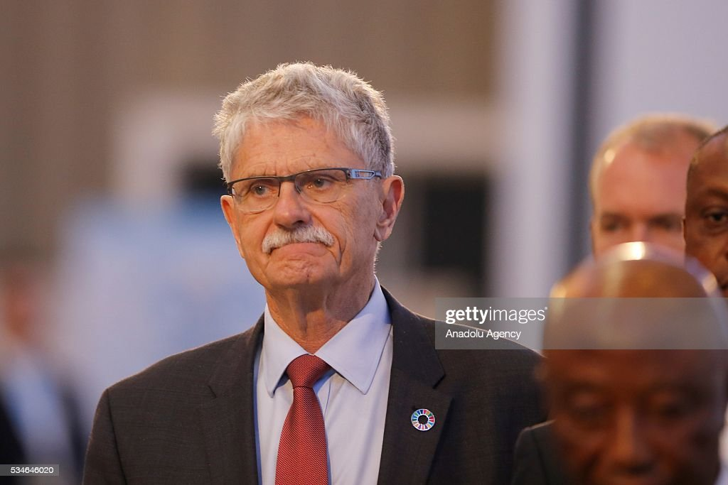 President of the United Nations General Assembly Mogens Lykketoft attends the Midterm Review of the Istanbul Programme of Action in Antalya, Turkey on May 27, 2016. The Midterm Review conference for the Istanbul Programme of Action for the Least Developed Countries takes place in Antalya, Turkey from 27-29 May 2016. The conference will undertake a comprehensive review of the implementation of the Istanbul Programme of Action by the least developed countries (LDCs) and their development partners and likewise reaffirm the global commitment to address the special needs of the LDCs