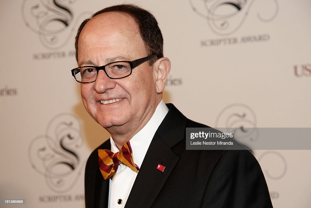 President of the USC Max Nikias attends The USC Libaries Twenty-Fifth Anuual Scripter Awards at USC Campus, Doheney Library on February 9, 2013 in Los Angeles, California.