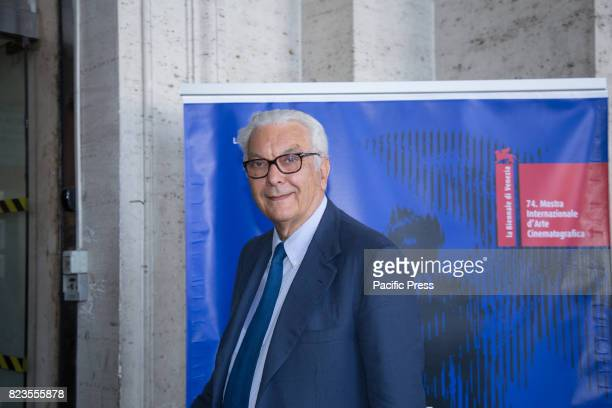 President of the Venice Biennale Paolo Baratta during Press Conference for the presentation of the 74th International Venice Film Festival