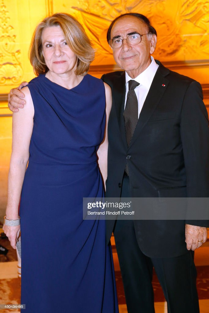 President of the Versailles Castle, Catherine Pegard and Director-General Delegate of Pasteur-Weizmann Robert Parienti attend Pasteur-Weizmann Gala at Chateau de Versailles on November 18, 2013 in Versailles, France.