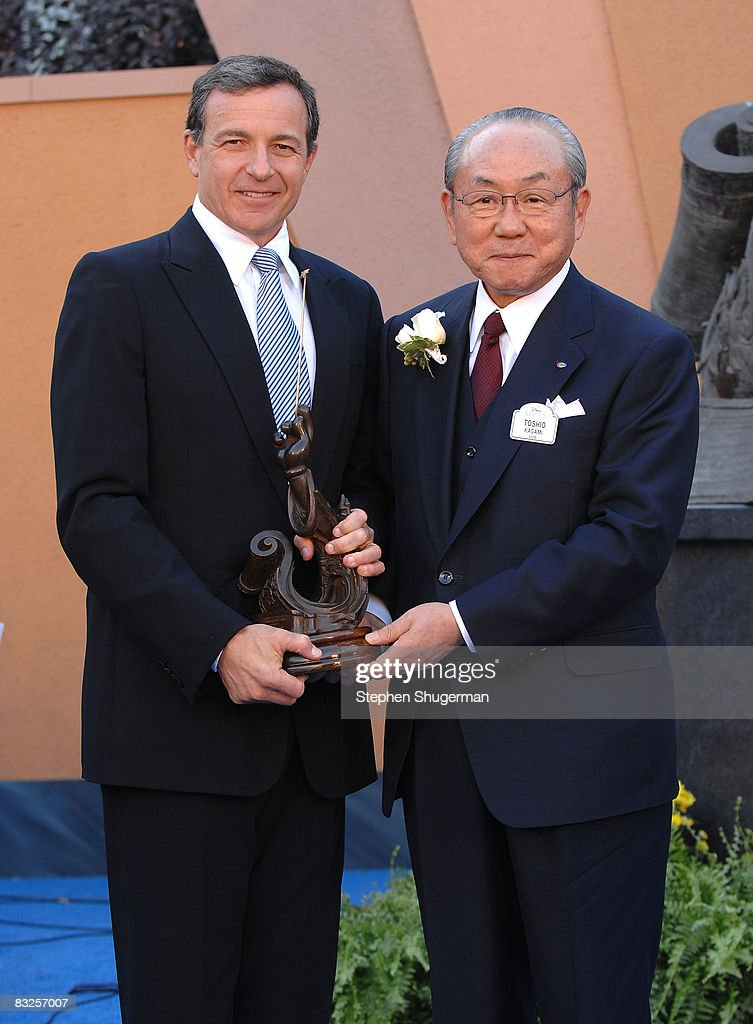 President of the Walt Disney Company Bob Iger (L) and Disney Legends Honoree Toshio Kagami attend the 2008 Disney Legends Ceremony at the Walt Disney Studios on October 13, 2008 in Burbank, California.