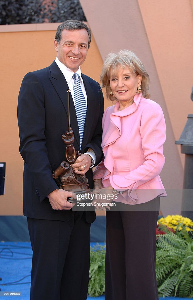 President of the Walt Disney Company Bob Iger (L) and TV Host Barbara Walters attend the 2008 Disney Legends Ceremony at the Walt Disney Studios on October 13, 2008 in Burbank, California.