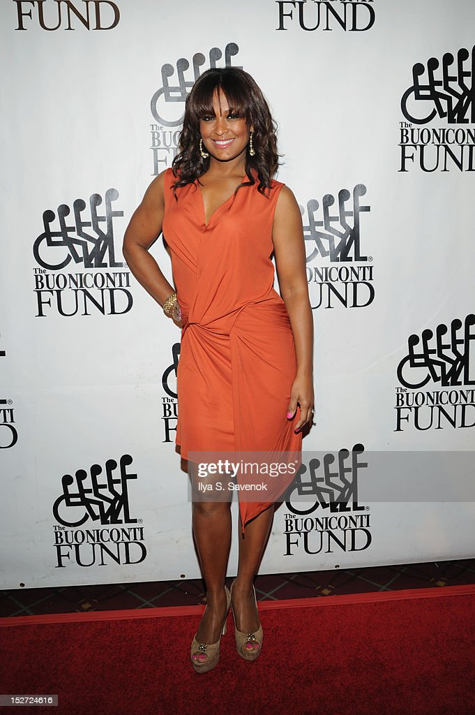 President of the Women's Sports Foundation <a gi-track='captionPersonalityLinkClicked' href=/galleries/search?phrase=Laila+Ali+-+Boxer&family=editorial&specificpeople=204687 ng-click='$event.stopPropagation()'>Laila Ali</a> attends the 27th Annual Great Sports Legends Dinner to benefit the Buoniconti Fund to Cure Paralysis at The Waldorf=Astoria on September 24, 2012 in New York City.