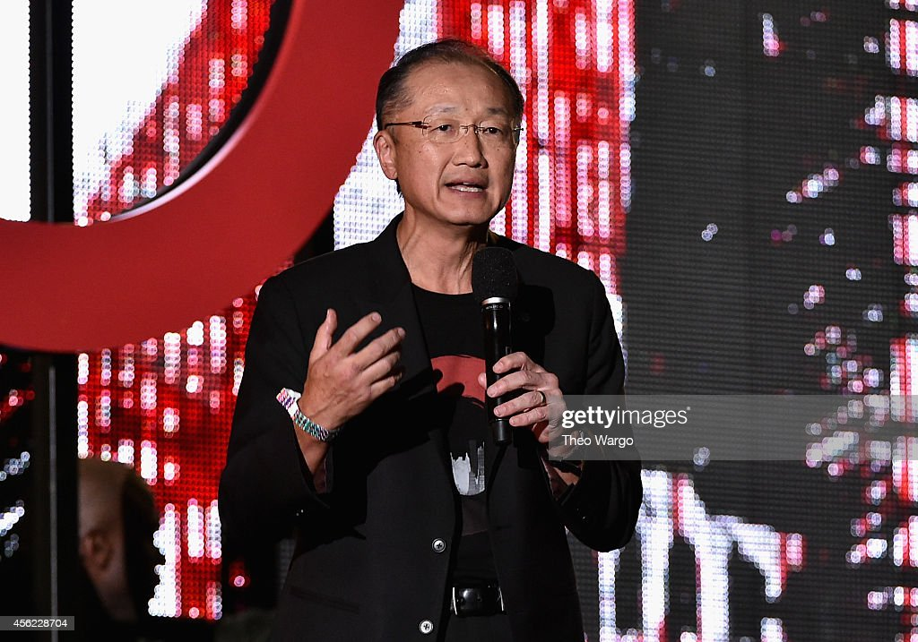President of the World Bank Jim Yong Kim speaks onstage at the 2014 Global Citizen Festival to end extreme poverty by 2030 in Central Park on...