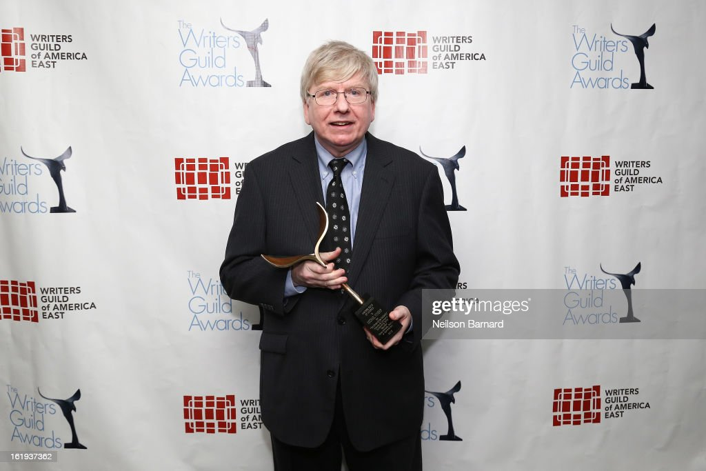 President of the Writers Guild of America, East Michael Winship poses backstage at the 65th annual Writers Guild East Coast Awards at B.B. King Blues Club & Grill on February 17, 2013 in New York City.