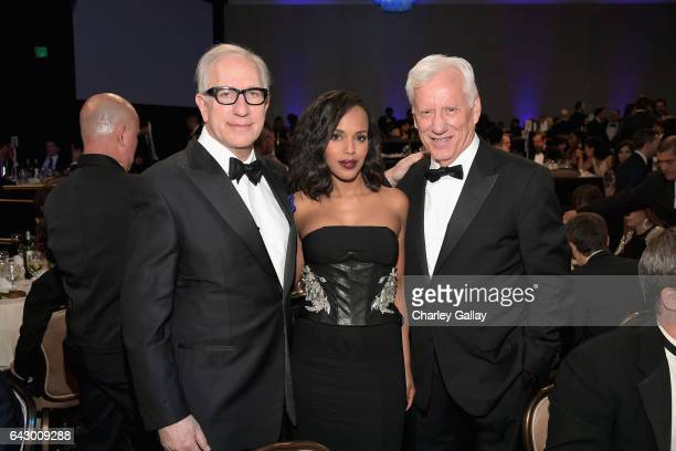 President of the Writers Guild of America West Howard Rodman actors Kerry Washington and James Woods attend the 2017 Writers Guild Awards LA Ceremony...