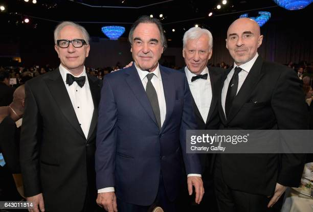 President of the Writers Guild of America West Howard Rodman honoree Oliver Stone actor James Woods and producer Fernando Sulichin attend the 2017...