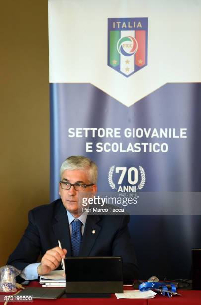 President of the youth and school sector of Figc Vito Tisci attends the Italian Football Federation SGS Meeting at the Ata Hotel on November 12 2017...