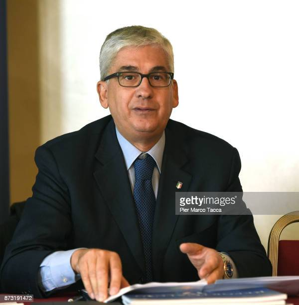 President of the youth and school sector of Figc Vito Tisci speaks during the Italian Football Federation SGS Meeting at the Ata Hotel on November 12...