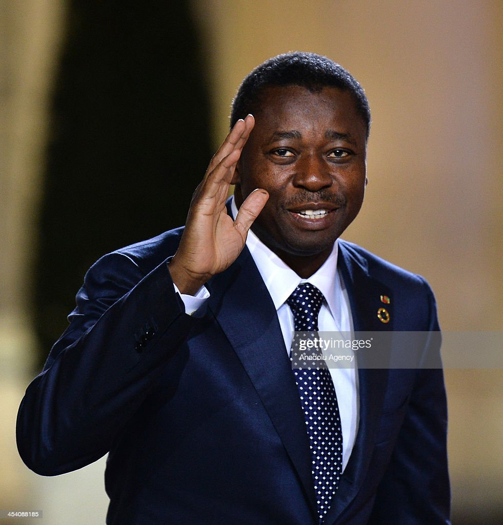 President of Togo Faure Gnassingbe arrives for a dinner with the French President as part of the Summit for Peace and Security in Africa at the Elysee Palace in Paris, France on December 6, 2013.