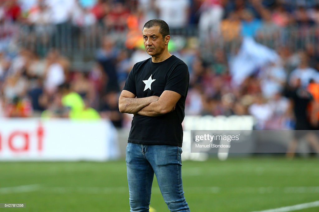 President of Toulon Mourad Boudjellal before the Rugby Top 14 Final between RC Toulon and Racing 92 at Camp Nou on June 24, 2016 in Barcelona, Spain.