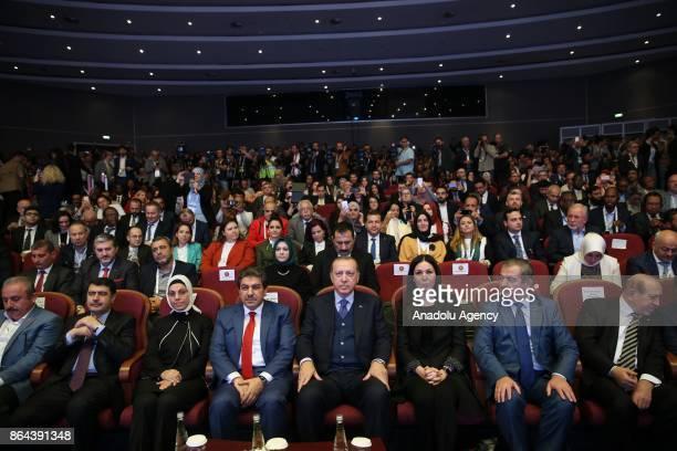 President of Turkey Recep Tayyip Erdogan attends the International City and Civil Society Organizations Summit at Yildiz Technical University...