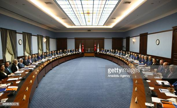 President of Turkey Recep Tayyip Erdogan chairs ruling Justice and Development Party's Central Decision and Executive Board meeting in Ankara Turkey...