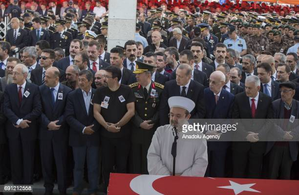 President of Turkey Recep Tayyip Erdogan Chief of the General Staff of the Turkish Armed Forces Hulusi Akar Speaker of the Grand National Assembly of...