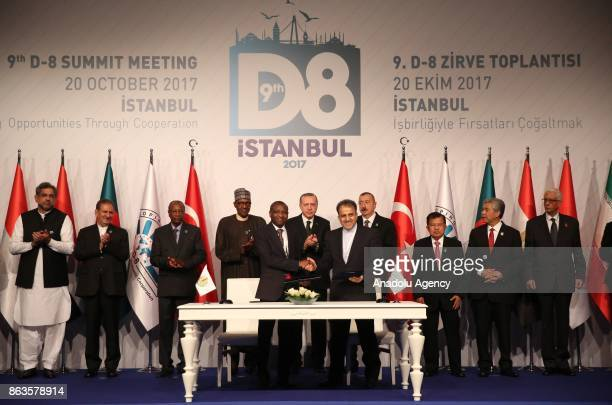 President of Turkey Recep Tayyip Erdogan President of Azerbaijan Ilham Aliyev President of Nigeria Muhammed Buhari President of Guinea Alpha Conde...